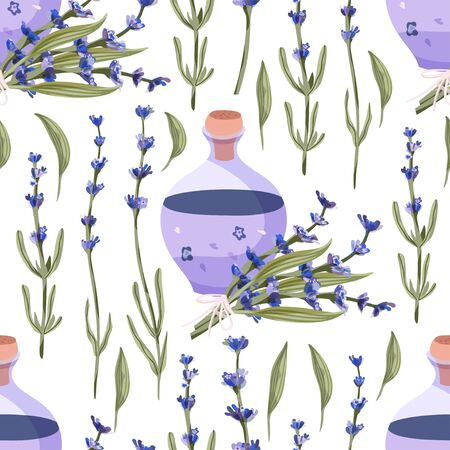 Provence seamless vector vintage pattern in a flat style.