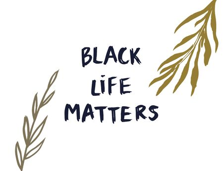 Black life matters. Vector lettering design poster. Hand drawn textured quote. Fight for justice. 向量圖像