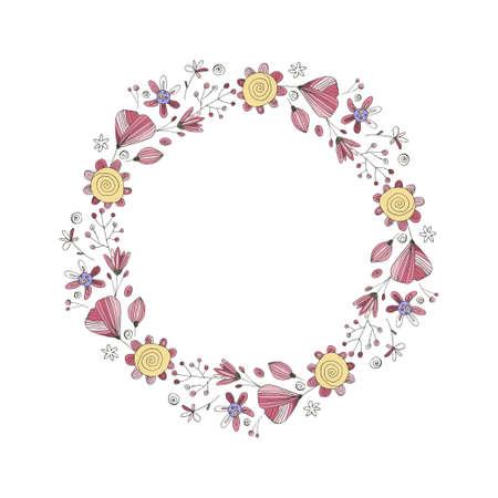 Wedding Wreath Vector.