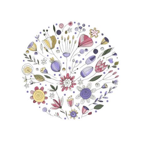 Botanical composition. Vector.