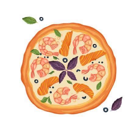 Cartoon Vector Pizza.