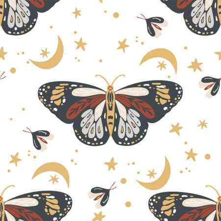 Butterfly seamless pattern.