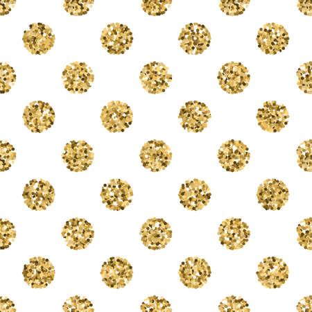 Gold glitter seamless vector pattern.