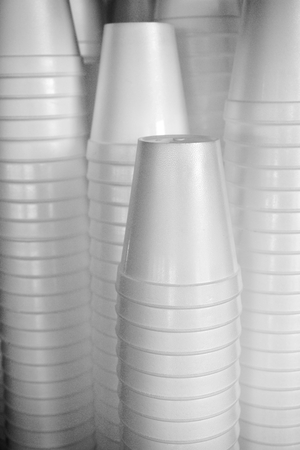 Stack of plastic cups Stock Photo - 85463816