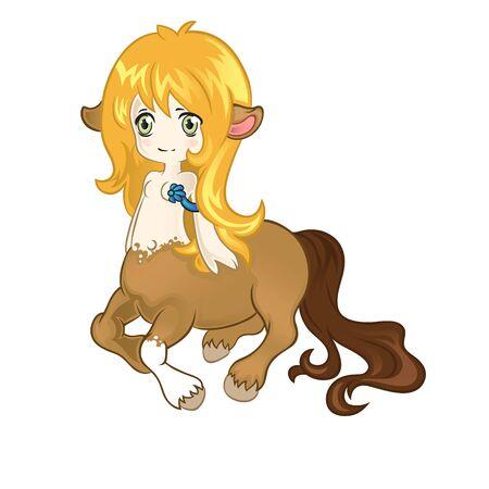 centaur: Young friendly centaur Illustration