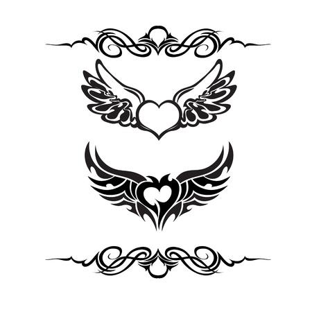 tribales: Tatuaje tribal conjunto de vectores