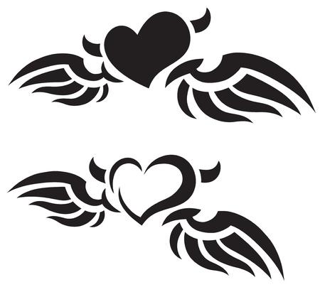 devilish: Heart tattoos