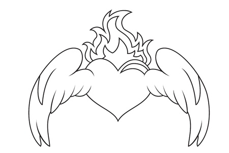 Winged heart Stock Vector - 14745813