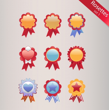 Rosettes set Stock Vector - 14745818