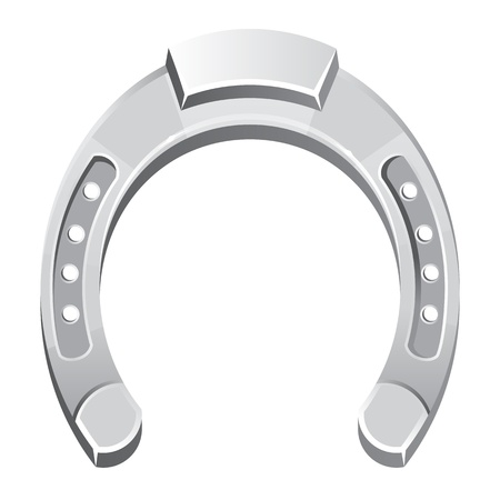 Metallic silver horseshoe