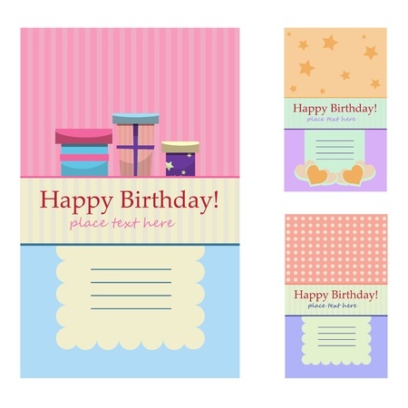 Birthday greeting cards Vector