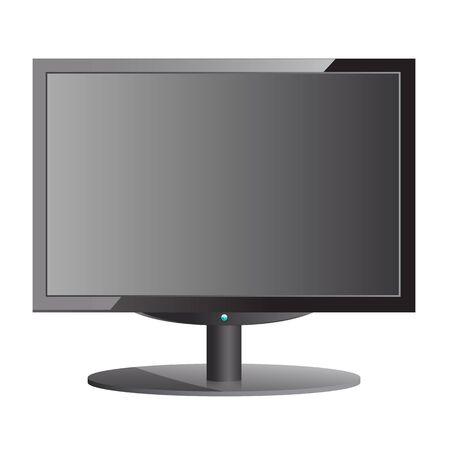 Black monitor Stock Vector - 14856312