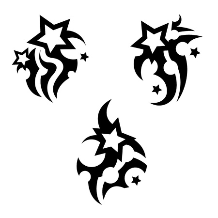 star icons: Tattoo with stars