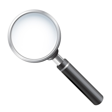 Realistic vector magnifying glass 일러스트
