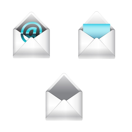 E-mail icons set Stock Vector - 15049894