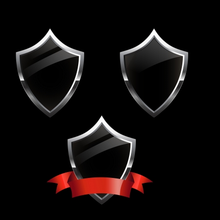 virus protection: Shield security icons Illustration