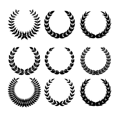 medallion: Laurel wreaths