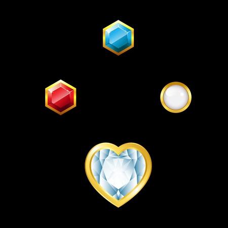 sapphire: Gems with holder Illustration