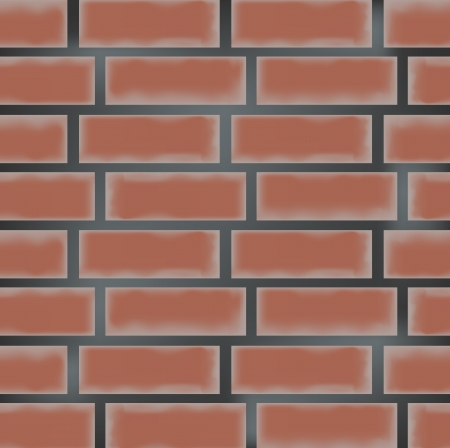 brick wall made of red bricks  Stock Vector - 15735412