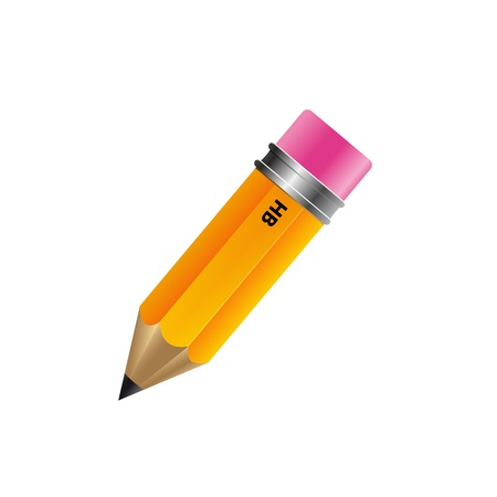secretarial: Pencil isolated on white background Illustration