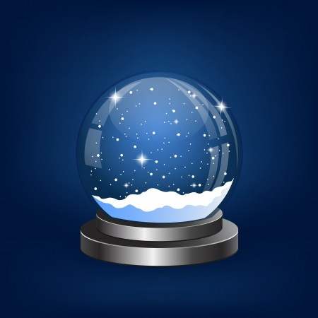 christmas snow globe: Christmas snow globe with the falling snow