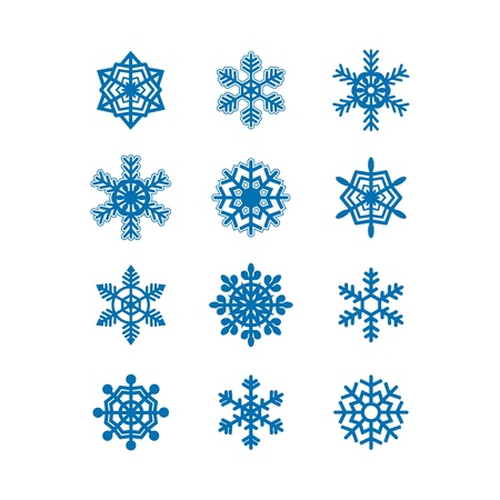 Snowflakes icon collection  Vector Stock Vector - 15977497