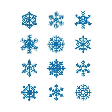 Snowflakes icon collection  Vector Stock Vector - 15977497