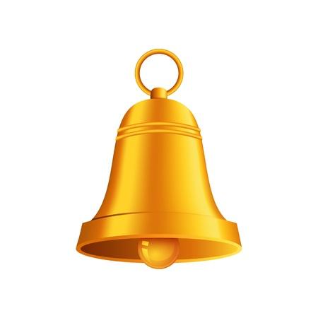 光沢のある黄金のクリスマスの鐘