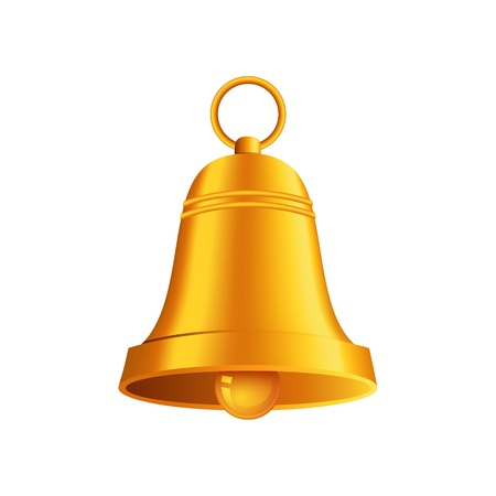color ring: shiny golden Christmas bell Illustration