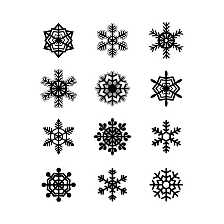 Snowflakes collection  Vector Stock Vector - 17105644