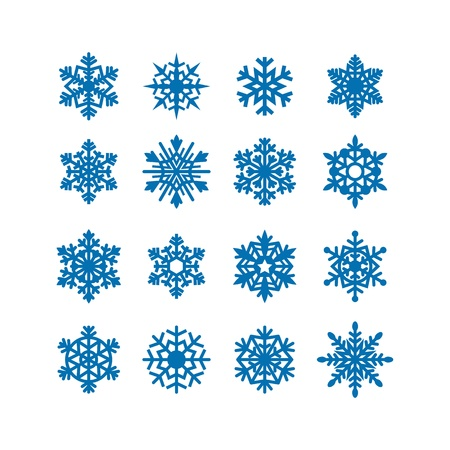 snow crystal: Snowflakes icon collection  Vector