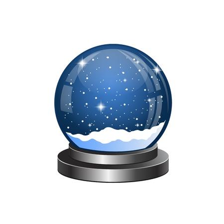 降る雪とクリスマス雪の世界