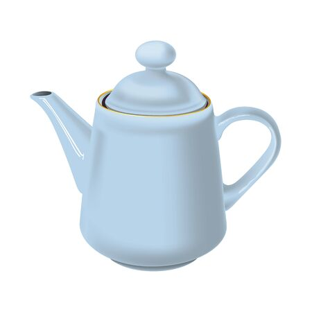 golden pot: White teapot