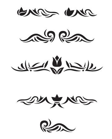 accents: Decorative design elements