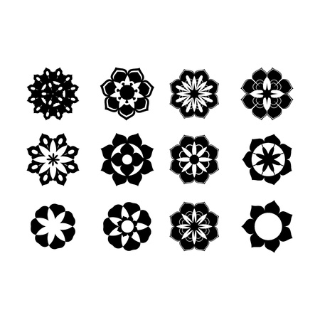 Set of graphic flowers Stock Vector - 17105670