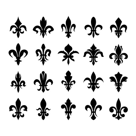 fleur: Heraldic symbols  fleur de lis  Illustration