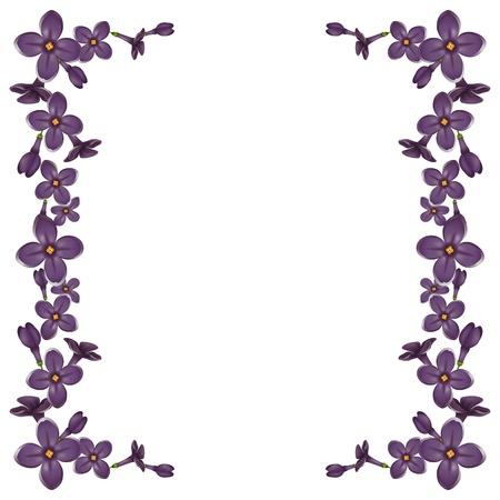 詳細な現実的なライラック色の花からフレーム