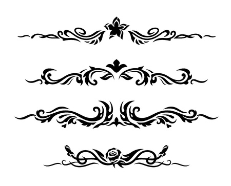 gothic design: Decorative design elements  Vector illustration  Illustration