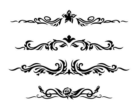 Decorativo disegno elementi illustrazione vettoriale