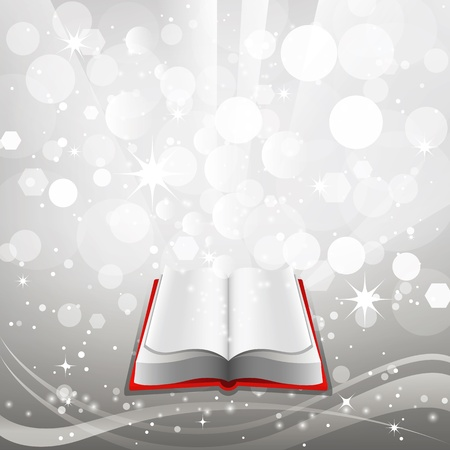 Open book on a gray background. Vector. Vector