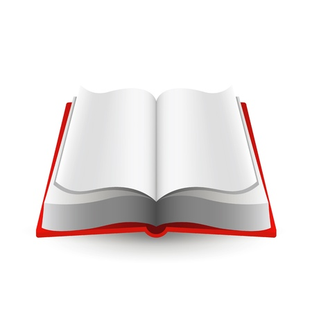 Open book icon isolated on white background. Vector illustration. Vector