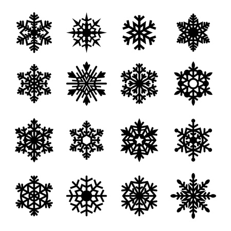 Snowflakes icon collection. Vector illustration. Stock Vector - 20925495
