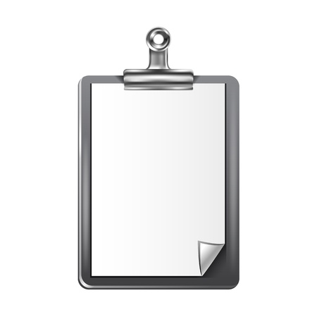 clipboard isolated: Clipboard. Isolated Clipboard with blank paper for Copy space. Vector. Illustration