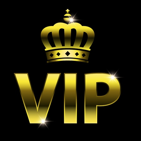 vip design: vip design (vip symbol, very important person sign) with crown.   Illustration