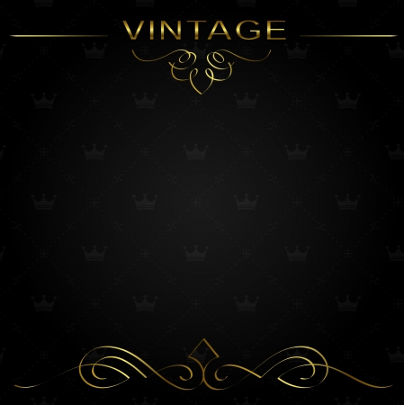 Seamless vintage background or frame with decorative calligraphic elements.  Vector