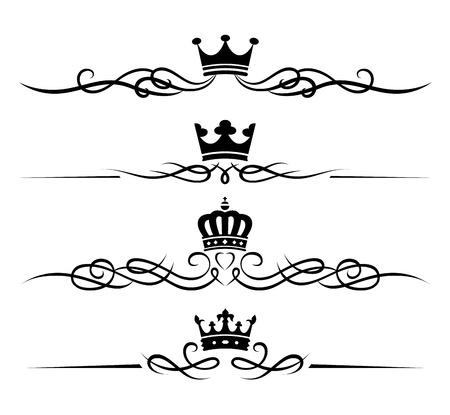 Set of decorative design elements. Vector.