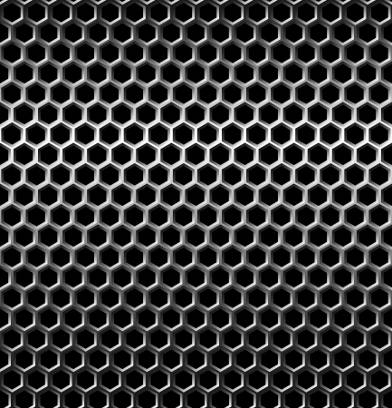 malla metalica: Perfecta textura de fondo de rejilla metálica. Vector