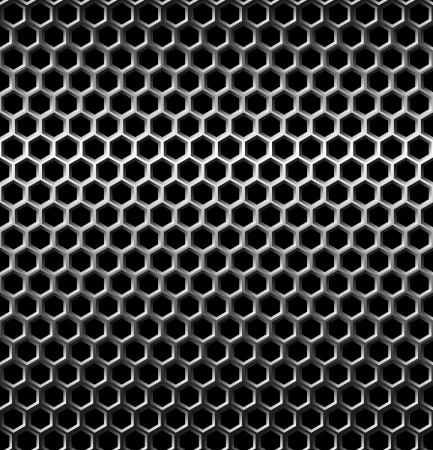 seamless metal: Seamless texture metal grid background. Vector Illustration