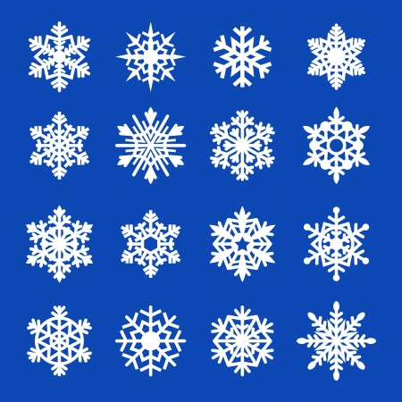 Snowflakes icon collection. Vector illustration. Vector