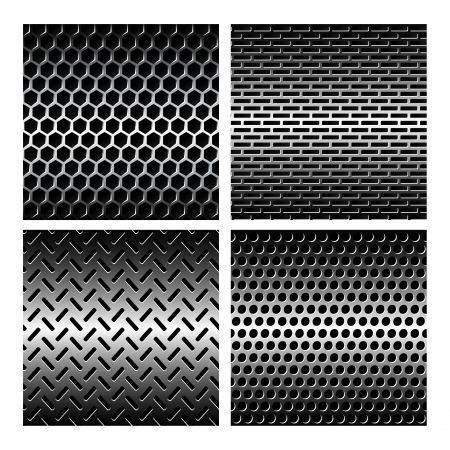 Seamless texture metal grids background. Vector Illustration